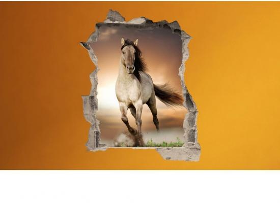 Wandsticker 3D-Optik Pferd Freiheit-Wandsticker Kinderzimmer