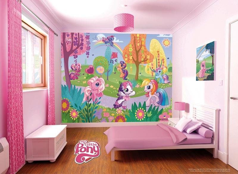 Fototapete WAndbild My Little Pony Kinderzimmer Mädchen Pferd Pferde Wanddeko  eBay