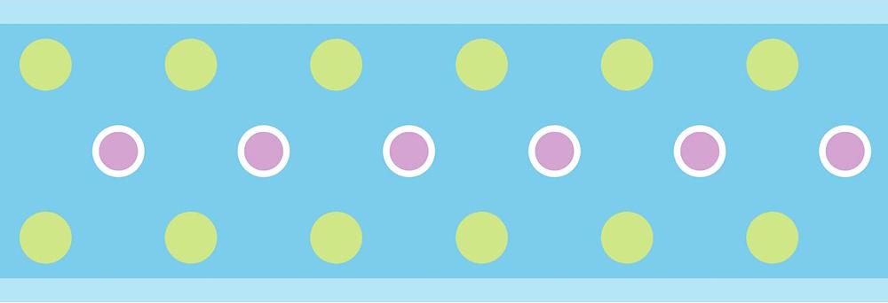 roommates bord re tapeten borte blaue punkte selbstklebend www 4. Black Bedroom Furniture Sets. Home Design Ideas
