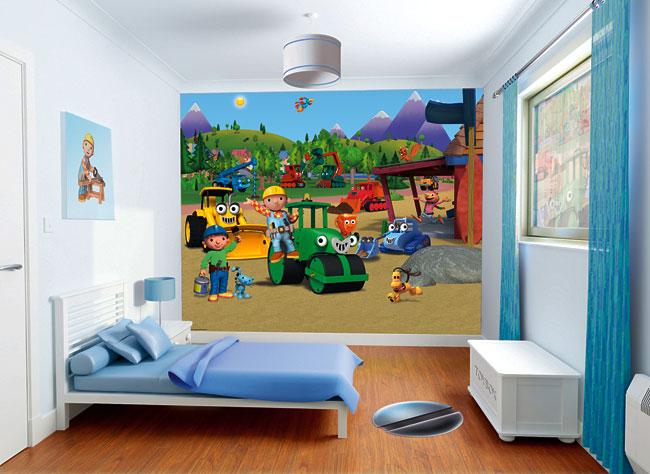 fototapete kinderzimmer wandbild bob der baumeister bob. Black Bedroom Furniture Sets. Home Design Ideas