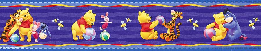 tapeten borte winnie the pooh winnie the pooh. Black Bedroom Furniture Sets. Home Design Ideas