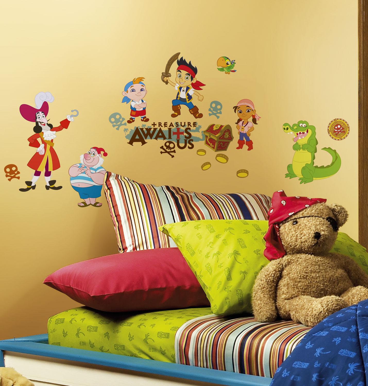 RoomMates Wandsticker Jake Nimmerland Piraten-Kinderzimmer