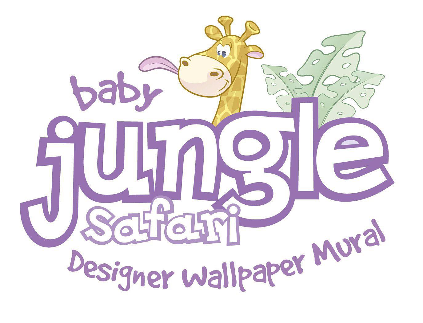 Wandsticker Kinderzimmer Baby Dschungel Tiere Safari Giraffe Affe ...