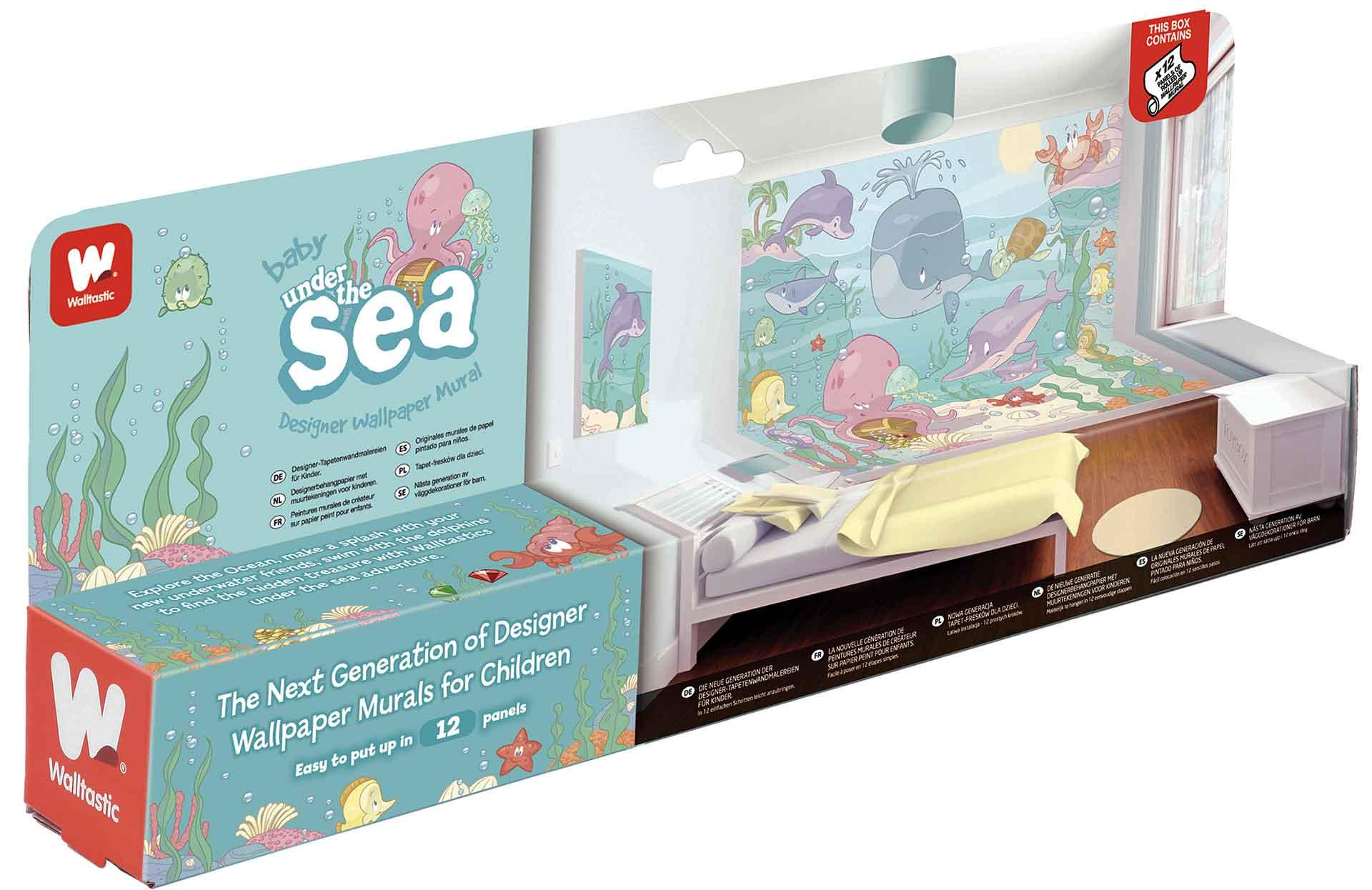 Wandsticker Kinderzimmer Baby Unterwasserwelt Fische Delfine | Rakuten