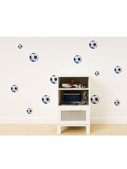 wandsticker wandtattoo wandaufkleber fu ball wandsticker kinderzimmer. Black Bedroom Furniture Sets. Home Design Ideas