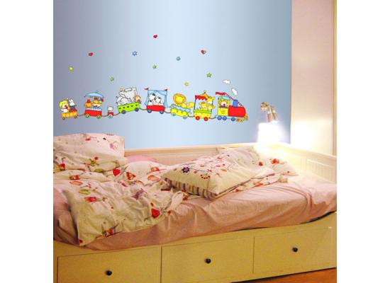 wandsticker zirkustiere eisenbahn zug wandsticker kinderzimmer. Black Bedroom Furniture Sets. Home Design Ideas