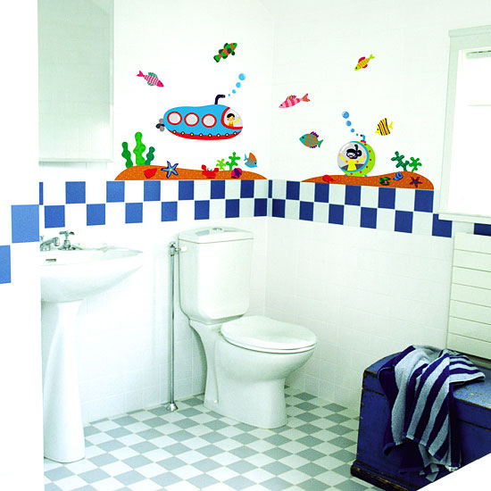 wandsticker wandtattoo unterwasserwelt u boot kinderzimmer wanddeko www 4. Black Bedroom Furniture Sets. Home Design Ideas