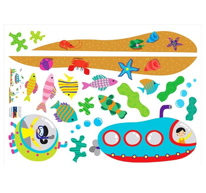 Wandsticker wandtattoo unterwasserwelt u boot kinderzimmer - Wandtattoo unterwasserwelt ...