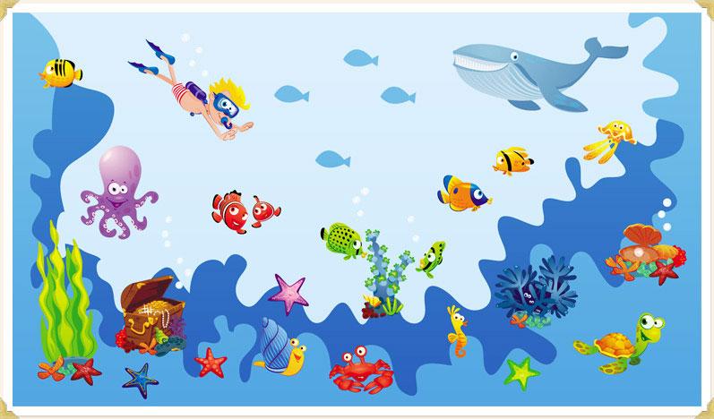 wandsticker unterwasser fische-fly my butterfly kinderzimmer - Kinderzimmer Deko Unterwasserwelt