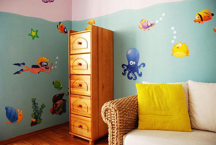 riesige wandaufkleber wandsticker set xxl wandtattoo unterwasserwelt fische ebay. Black Bedroom Furniture Sets. Home Design Ideas
