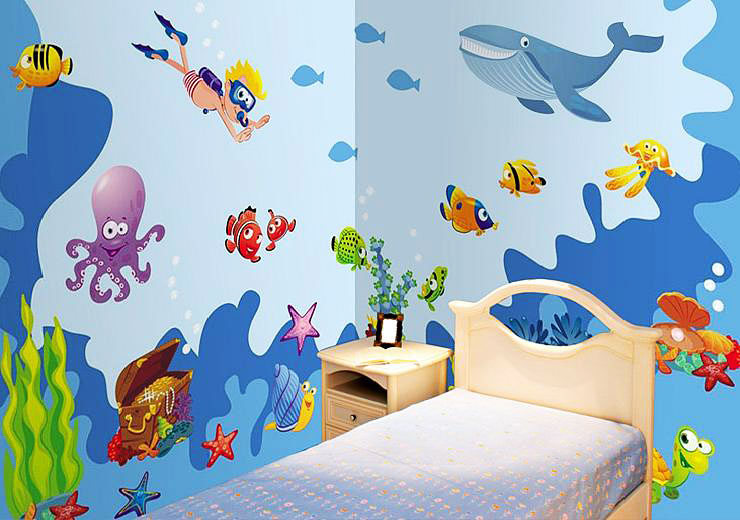 fly my butterfly wandaufkleber wandsticker set wandtattoo unterwasserwelt fische www 4. Black Bedroom Furniture Sets. Home Design Ideas