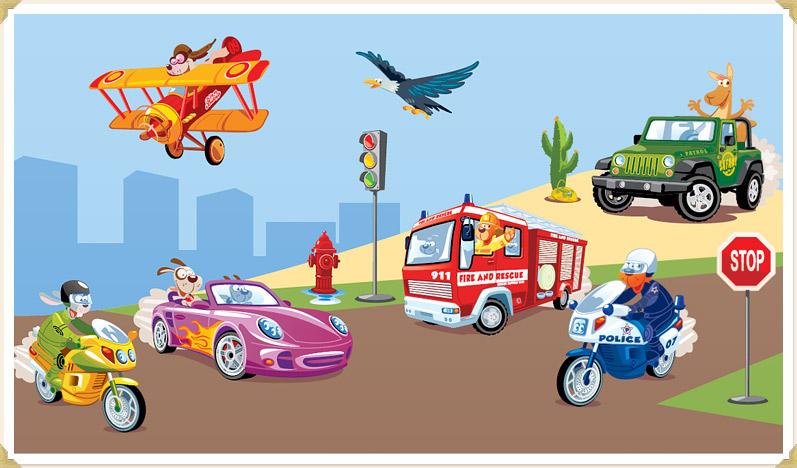 Hübsch Wandtattoo Kinderzimmer Auto Bilder >> Wandtattoo ...