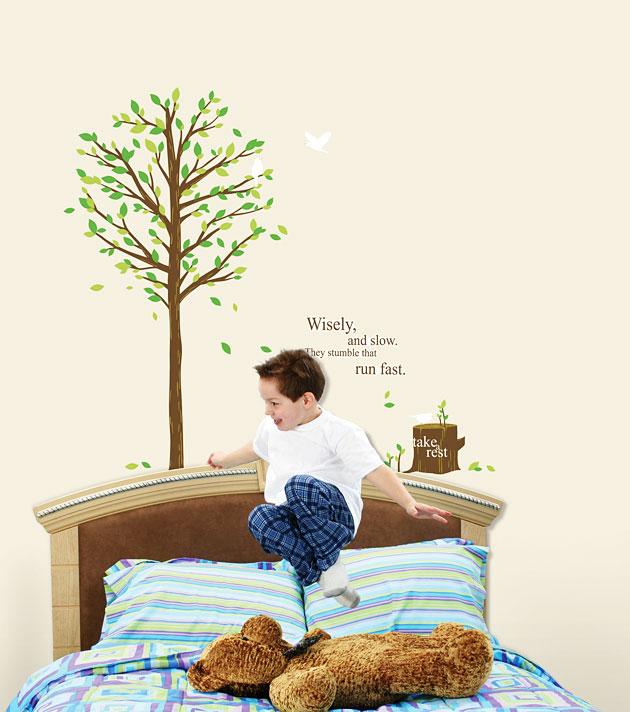 wandsticker baum herbstlaub blumen baum. Black Bedroom Furniture Sets. Home Design Ideas