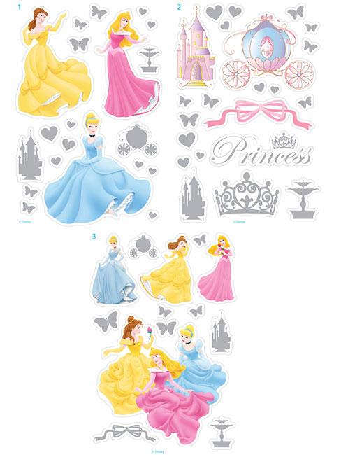 Wandsticker disney princess metallic disney princess - Wandsticker disney ...