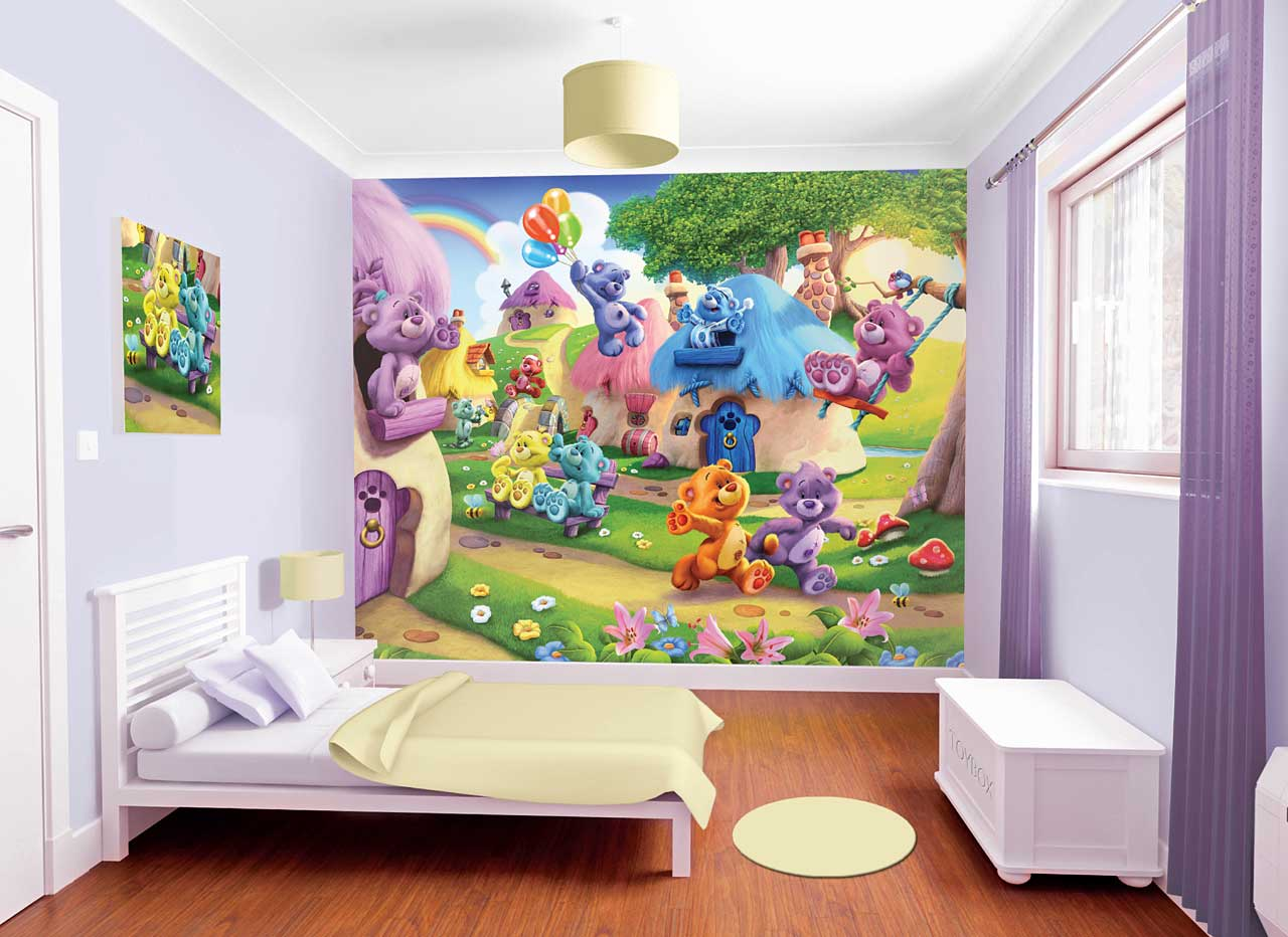 fototapete kinderzimmer b rchen teddyb ren land walltastic fototapete. Black Bedroom Furniture Sets. Home Design Ideas