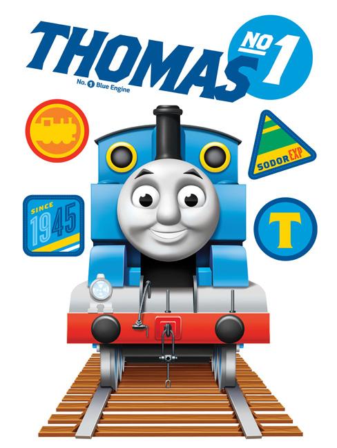 Maxi wandtattoo eisenbahn thomas dampflok lokomotive thomas - Wandtattoo dampflok ...
