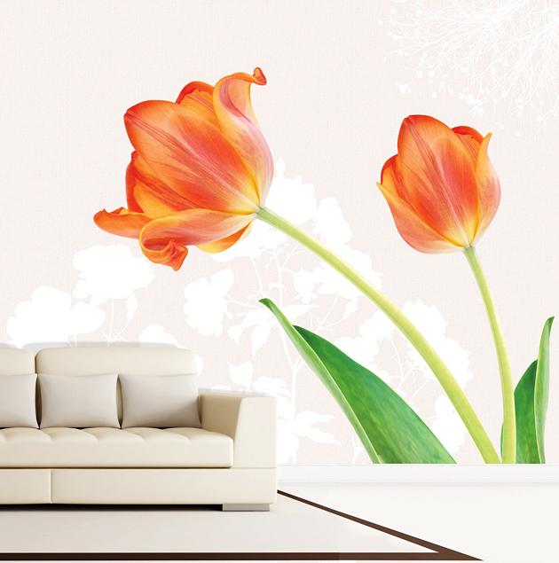 fototapete wandbild selbstklebend tulpen xxl ebay. Black Bedroom Furniture Sets. Home Design Ideas