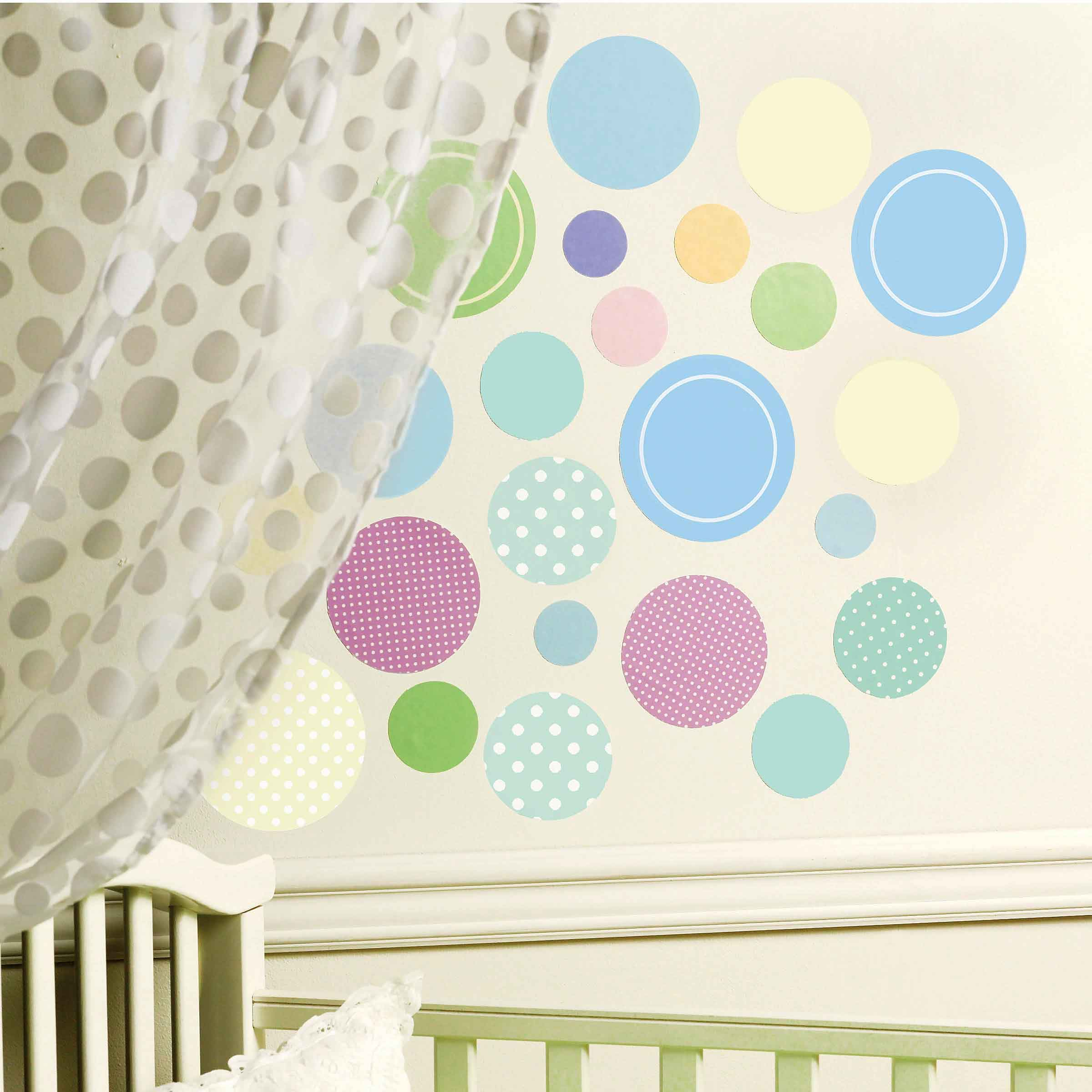 wallies wandsticker wandaufkleber wandtattoo baby bunte punkte www 4. Black Bedroom Furniture Sets. Home Design Ideas