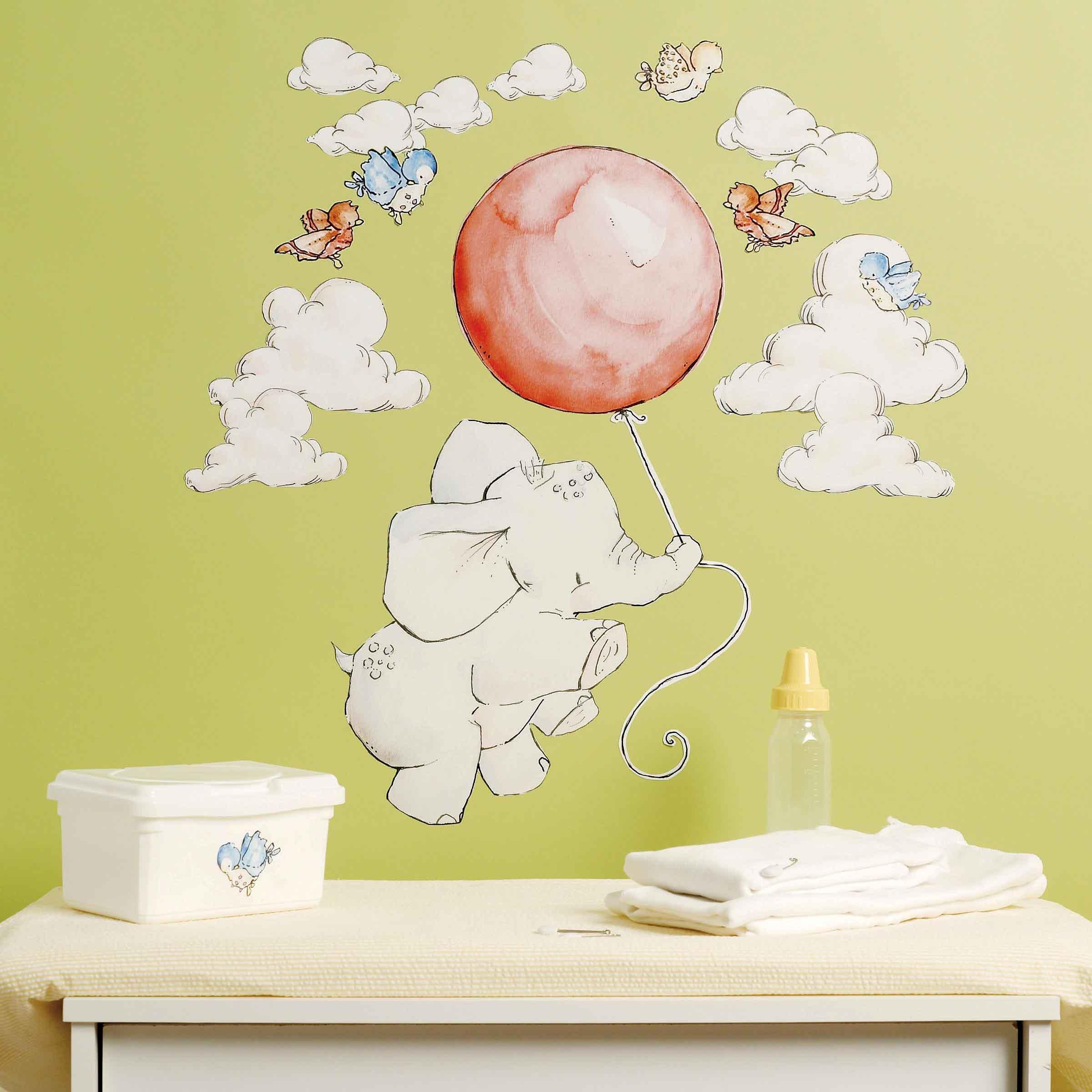 Wallies Wandsticker Wandaufkleber Babyzimmer alle Elefanten ...