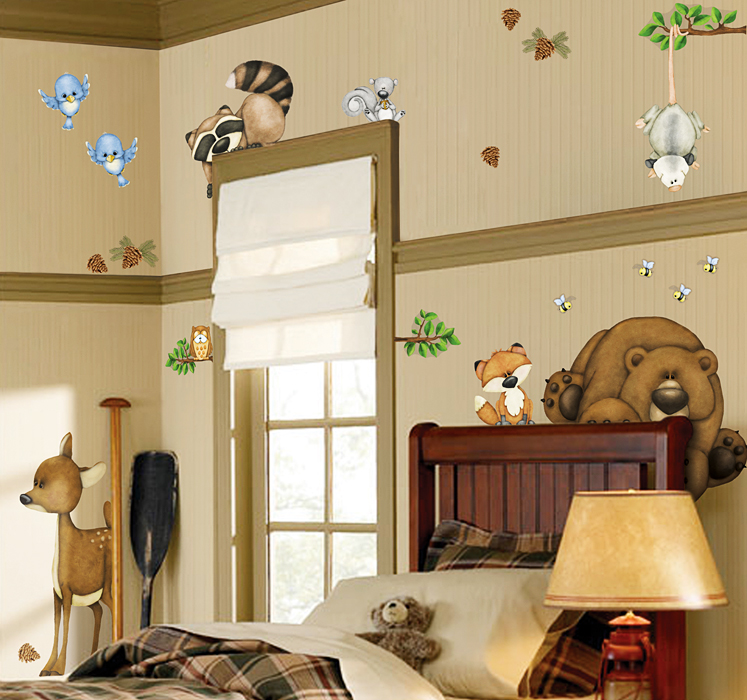 borders unlimited wandsticker ecken und kanten tiere des waldes www 4. Black Bedroom Furniture Sets. Home Design Ideas