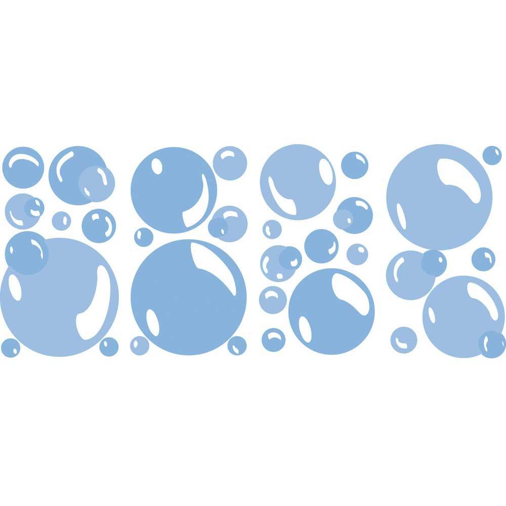 Wandsticker Wandaufkleber Seifenblasen Bubbles Bad Fliesen Deko
