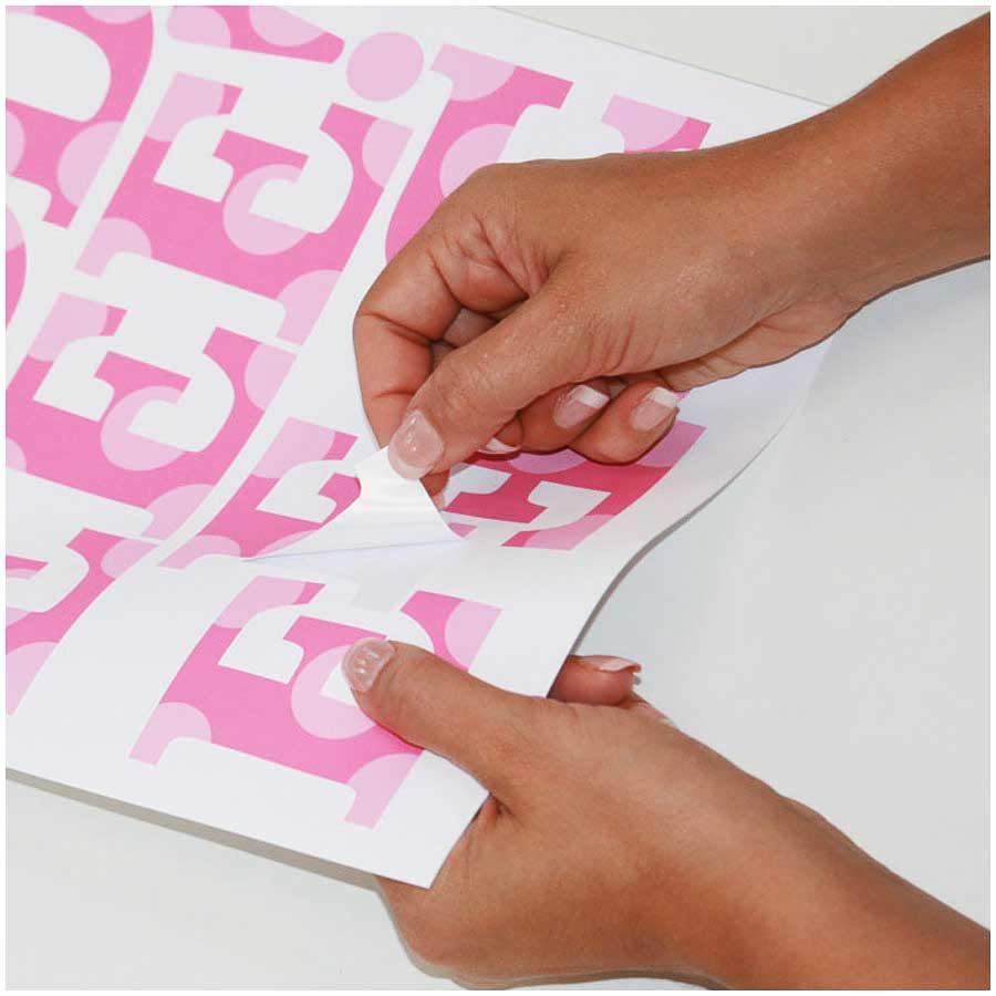 Roommates wandsticker wandtattoo pink alphabet roommates - Roommates wandsticker ...