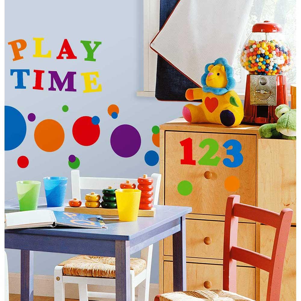 Roommates Wandsticker Wandtattoo Bunte Zahlen Kinderzimmer 4 Haen De