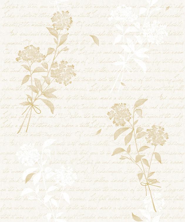 Selbstklebende Tapete Drucken : Tapete selbstklebend Bl?tenstrau? cremebeige-Blumen Bl?ten