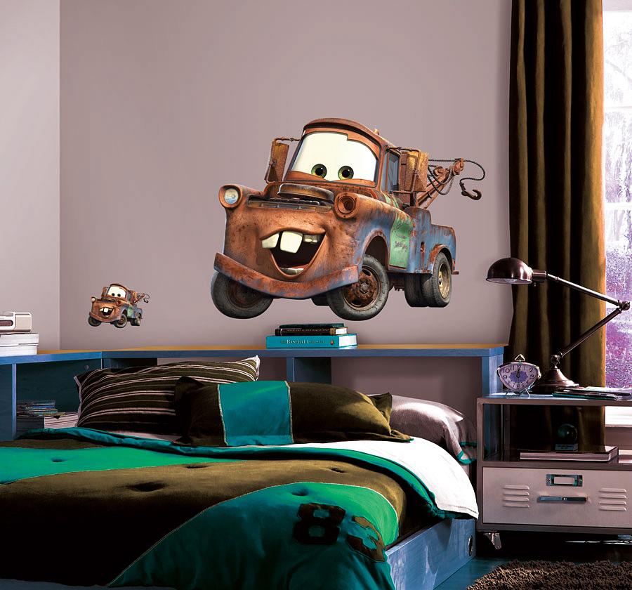 Roommates wandsticker abschleppwagen mater disney pixar cars - Roommates wandsticker ...