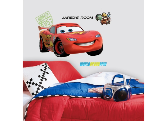 Roommates wandsticker lightningmcqueen abc disney pixar cars - Cars wandsticker ...