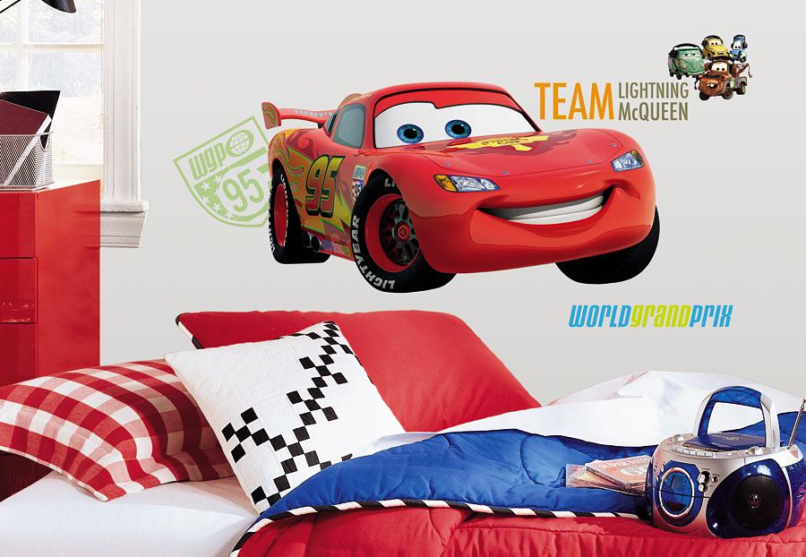 Roommates wandsticker wandbild wandtattoo disney cars team - Wandtattoo cars ...