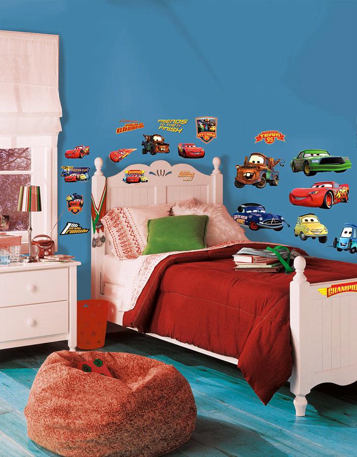 Roommates wandsticker piston cup champions disney pixar cars - Wandtattoo cars ...