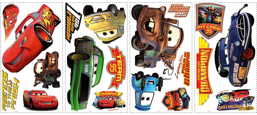 Roommates wandtattoo wandsticker disney cars piston cup - Wandtattoo cars ...