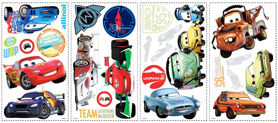 Roommates wandsticker wandtattoo disney pixar cars 26 sticker www 4 - Cars wandsticker ...