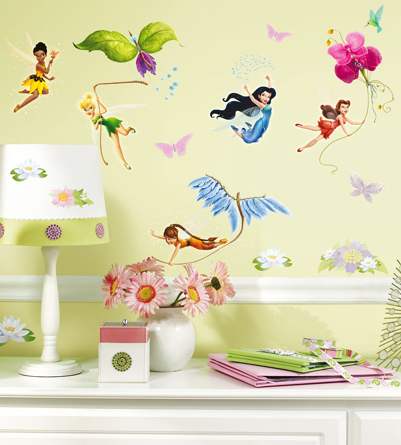 roommates wandsticker wandtattoo disney fairies tinkerbell. Black Bedroom Furniture Sets. Home Design Ideas
