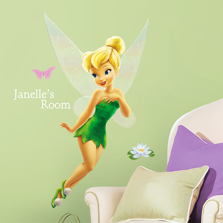 wandsticker disney fairies tinkerbell buchstaben disney. Black Bedroom Furniture Sets. Home Design Ideas