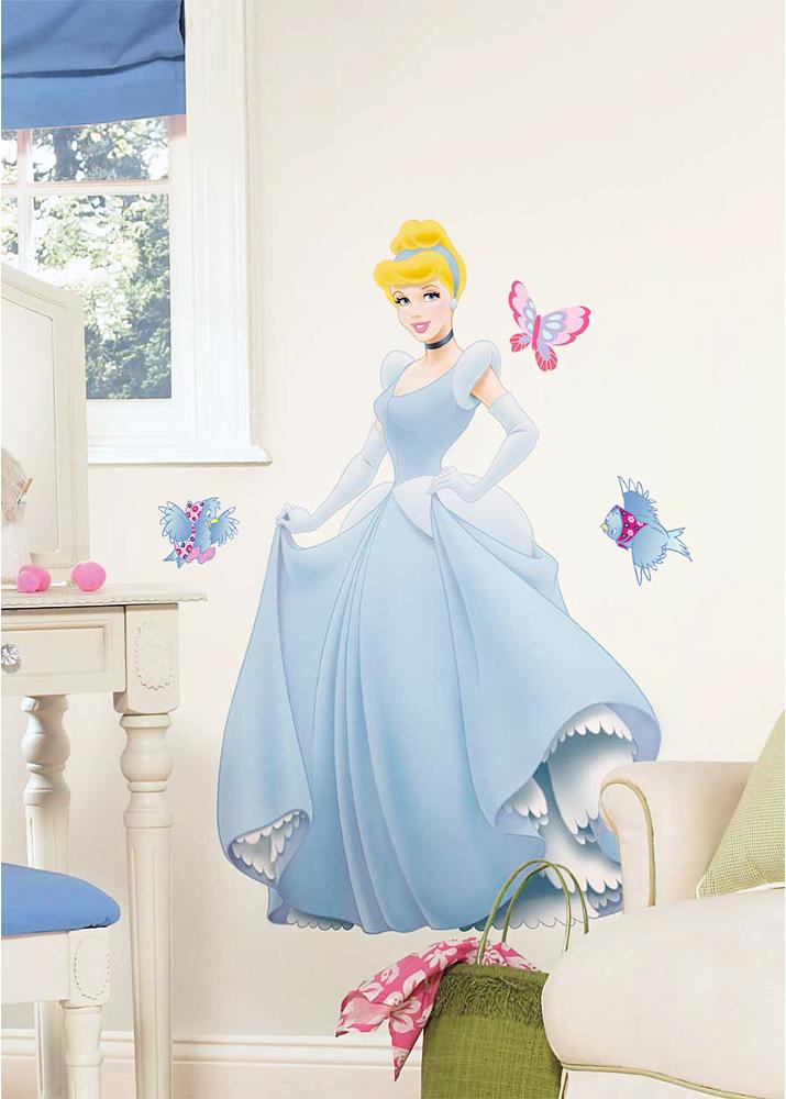 Roommates wandsticker wandbild wandtattoo disney princess cinderella ebay - Wandsticker disney ...
