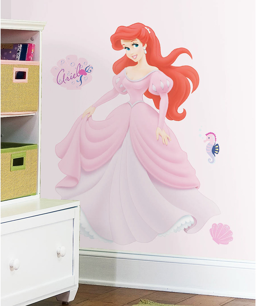 Roommates wandsticker disney princess ariel disney princess - Roommates wandsticker ...