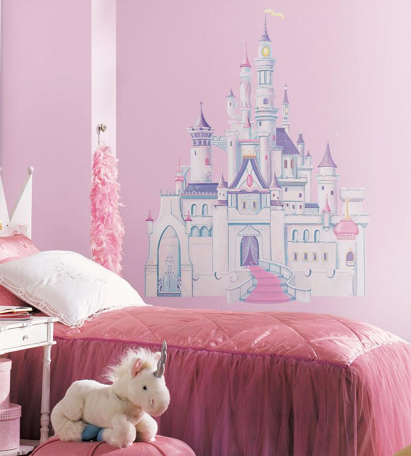 RoomMates Wandsticker XXL Glitter Schloss-Disney Princess