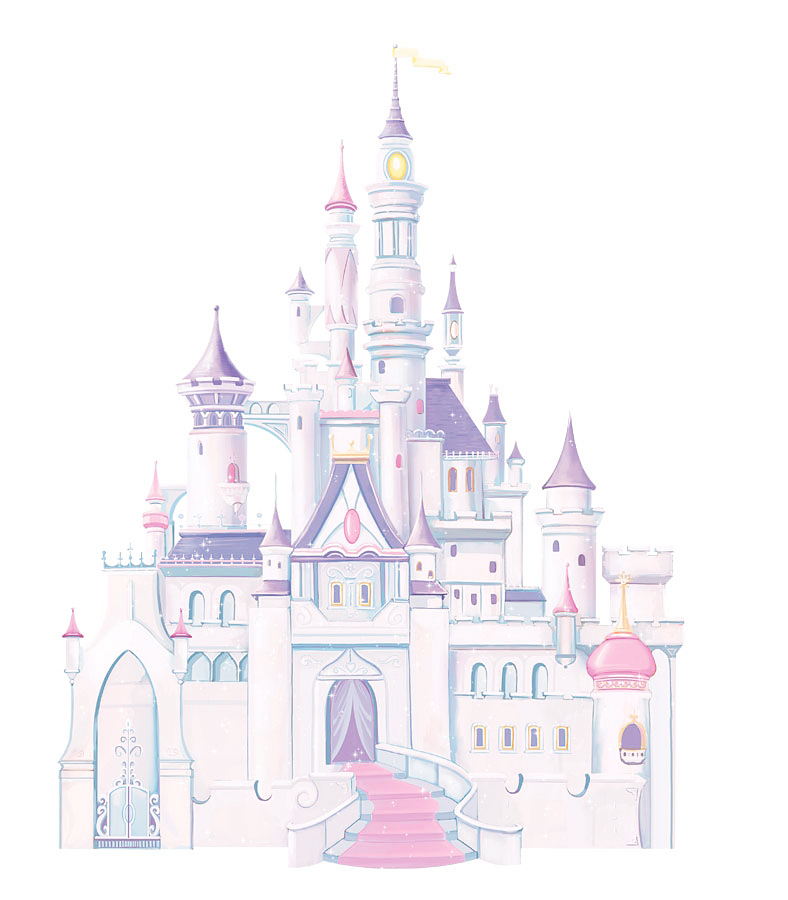 roommates wandsticker xxl wandtattoo disney princess glitter schloss www 4. Black Bedroom Furniture Sets. Home Design Ideas