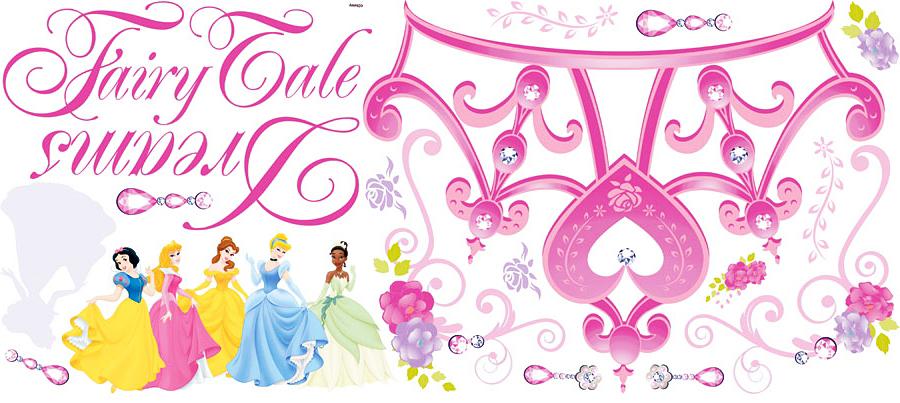 Roommates wandsticker disney princess krone fairy disney princess - Wandsticker disney ...