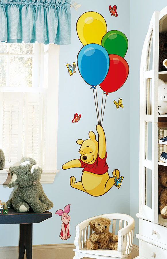 wandtattoo f r kinderzimmer winnie pooh. Black Bedroom Furniture Sets. Home Design Ideas