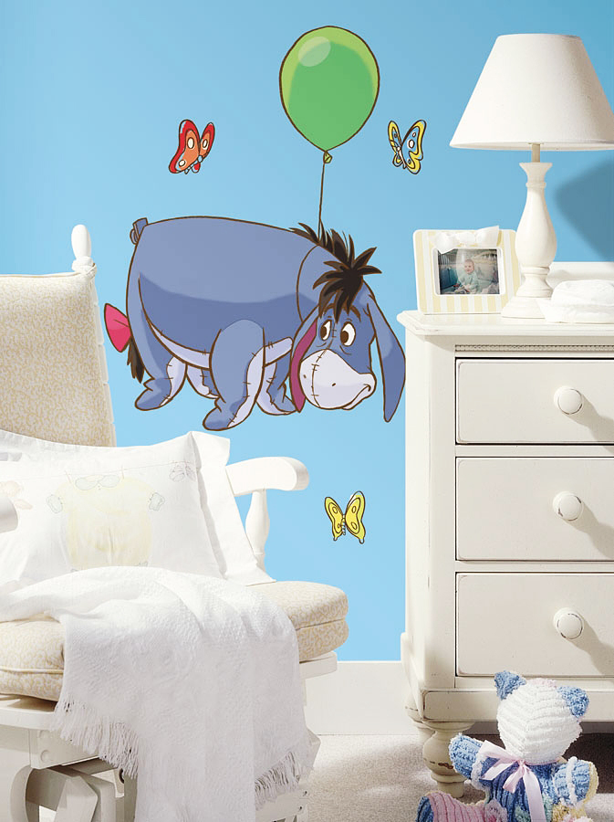 roommates wandsticker wandbild winnie pooh esel eeyore. Black Bedroom Furniture Sets. Home Design Ideas