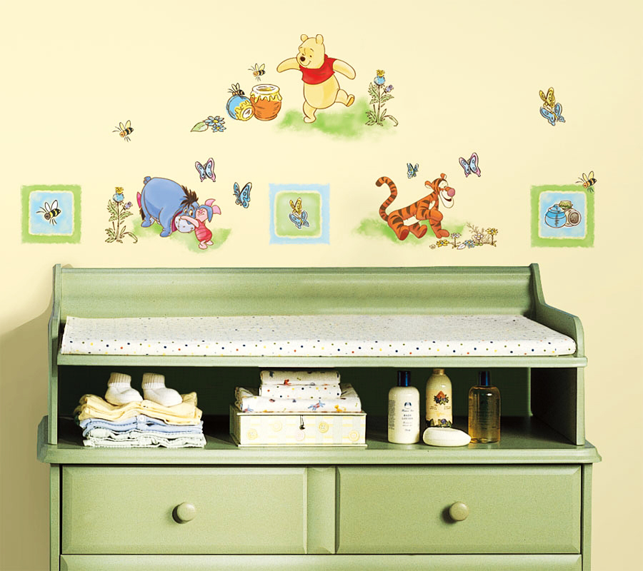 roommates wandsticker wandtattoo disney winnie pooh und. Black Bedroom Furniture Sets. Home Design Ideas