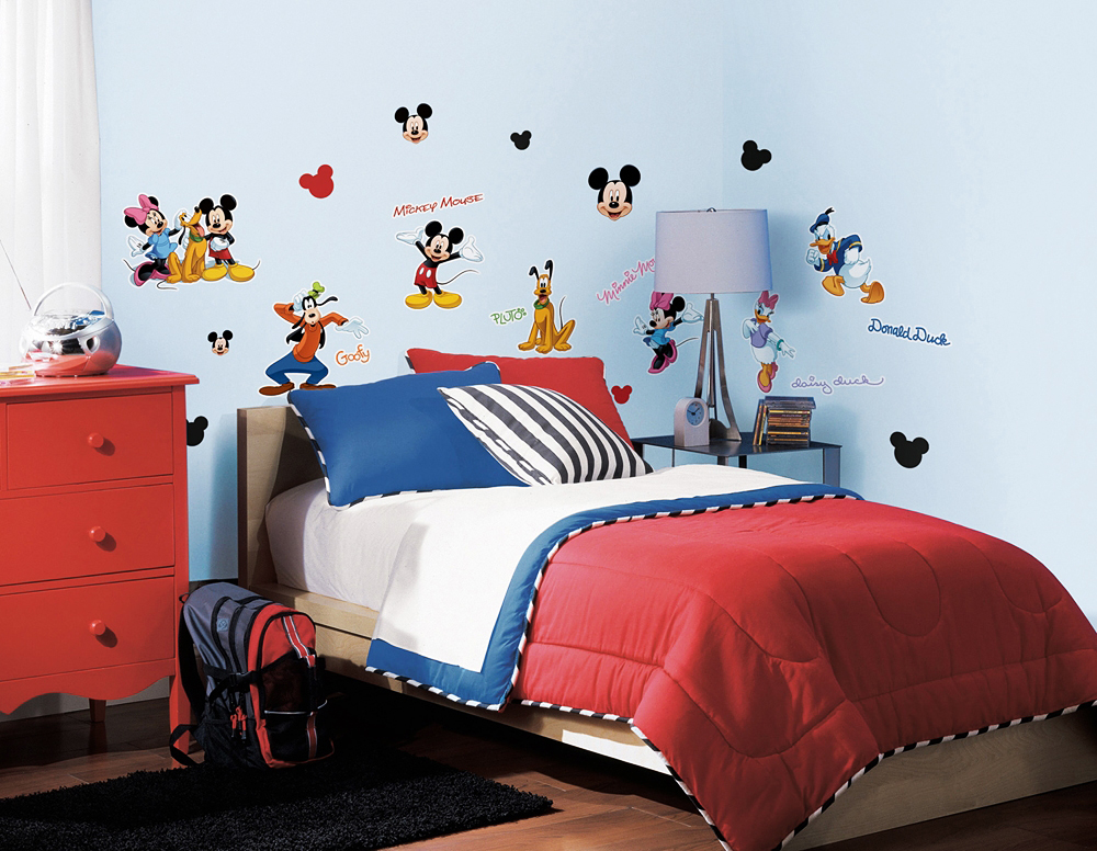 Kinderzimmer Mickey Mouse | Roommates Wandtattoo Mickey Mouse Club Mickey Mouse