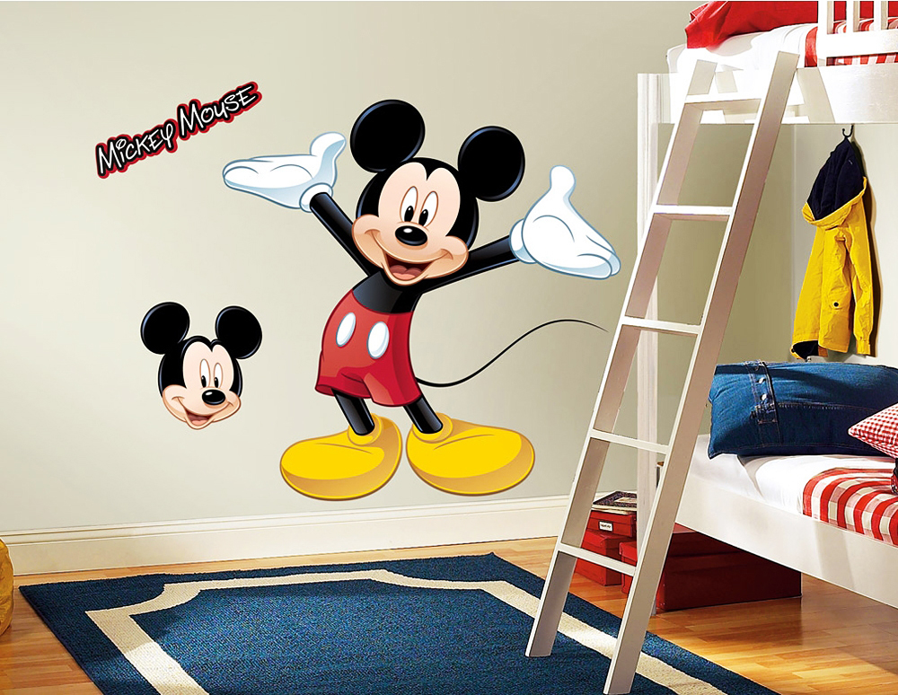 roommates wandsticker mickey mouse xxl mickey mouse. Black Bedroom Furniture Sets. Home Design Ideas
