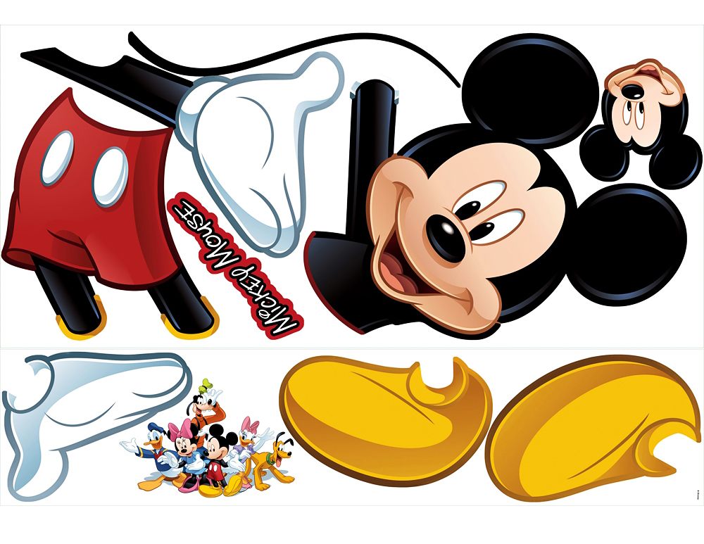roommates wandsticker wandtattoo disney mickey mouse www 4. Black Bedroom Furniture Sets. Home Design Ideas