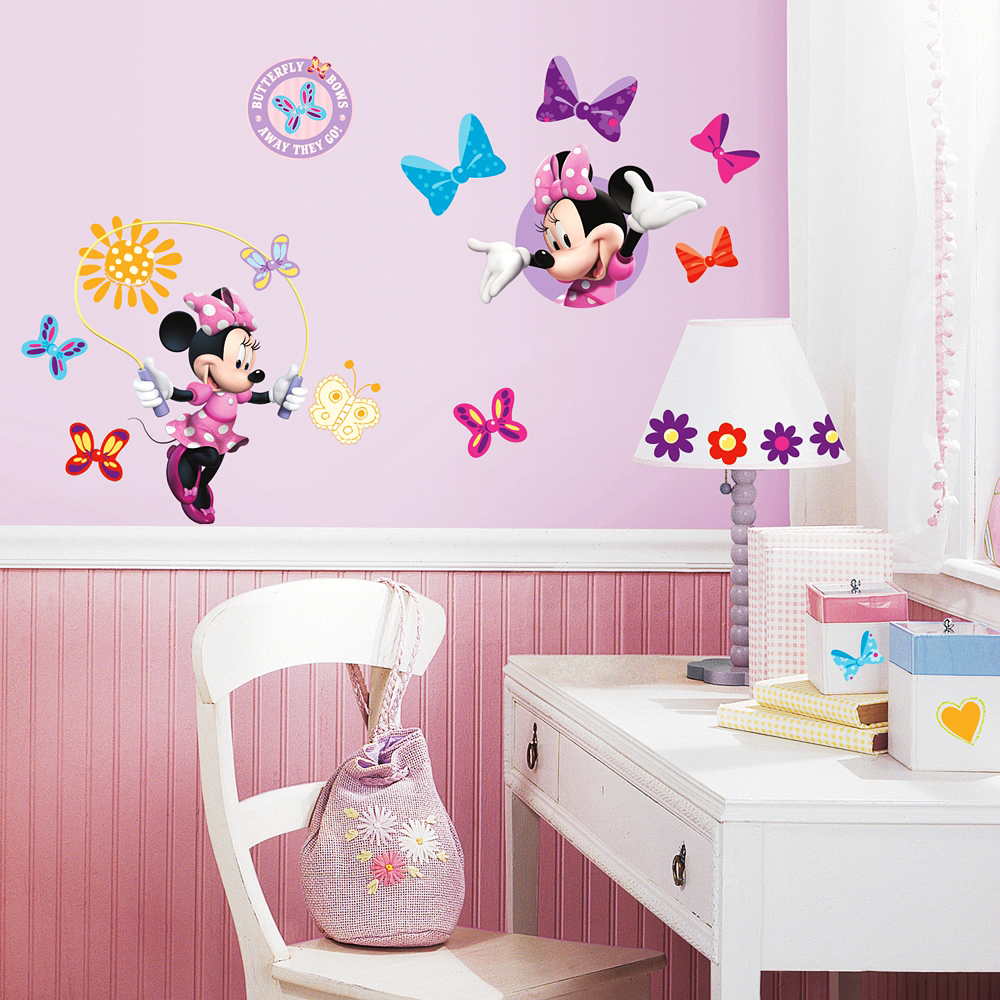 wandtattoo wandsticker minnie mouse club house disney. Black Bedroom Furniture Sets. Home Design Ideas