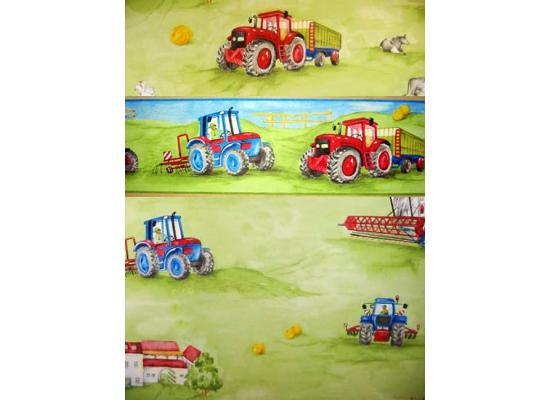 Kindertapeten Mit Traktor : Bord?re Tapeten Borte Bauernhof Traktor M?hdrescher nicht