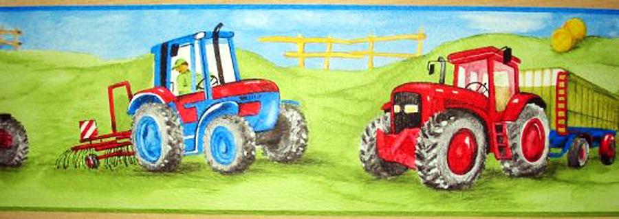 bord re borte bauernhof traktor m hdrescher jungenzimmer. Black Bedroom Furniture Sets. Home Design Ideas
